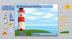 Images for the IWB to help pupils retell the story 'The Lighthouse Keepers…