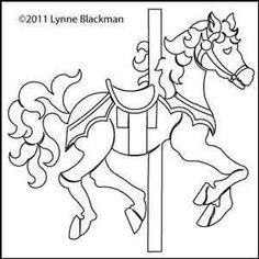 Carousel Horse | Lynne Blackman | Digitized Quilting Designs