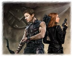 Hawkeye and Black Widow - Arrows and Bullets by LadyMintLeaf