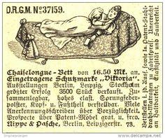 Original-Werbung/ Anzeige 1898 - CHAISELONGUE - BETT / NIPPE & PASCHE BERLIN - ca 50 x 40 mm