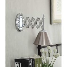 Accordion Swing-arm 1-light Brushed Nickel Wall Lamp | Overstock™ Shopping - Top Rated Sconces & Vanities