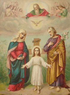 Holy Trinity, Blessed Mother & Saint Joseph.