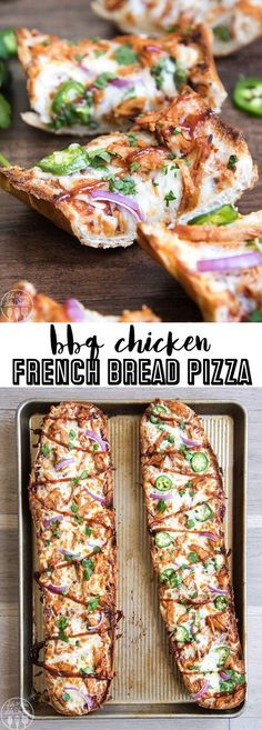 This bbq chicken french bread pizza is the perfect way to have homemade bbq chicken pizza in only about 15 minutes! This bbq chicken french bread pizza is the perfect way to have homemade bbq chicken pizza in only about 15 minutes! Bbq Chicken Sides, Bbq Chicken Pizza, Side Dishes For Chicken, Bbq Chicken Flatbread, Side Dishes For Pizza, Bbq Chicken Salad, Pulled Chicken, Flatbread Pizza, Rotisserie Chicken