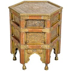 Islamic Octagonal 19th Century Coffee Table with Calligraphy | From a unique collection of antique and modern coffee and cocktail tables at http://www.1stdibs.com/furniture/tables/coffee-tables-cocktail-tables/