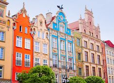 The future's bright: Gdansk in Poland is partially known for its beautifully bright archit...