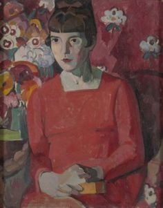 Anne Estelle Rice (American, Portrait of Katherine Mansfield at Looe in Cornwall, Oil on canvas, x cm Katherine Mansfield, Painting Inspiration, Color Inspiration, Portrait Inspiration, New Zealand Art, Anne Rice, People Of Interest, Galerie D'art, Red Paint