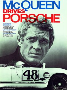 McQueen drives Porsche, 1970