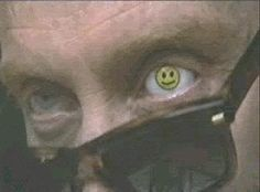 Mr. Benedict (Charles Dance) Glass Eyes from 'Last Action Hero'