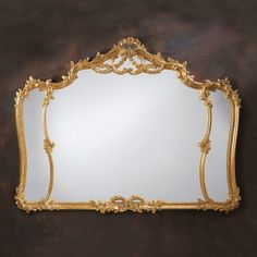 1627 Carved Wood Mirror