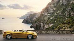 Концепт кабриолета Lexus LF-C2 Concept (Лексус) на берегу Средиземного моря