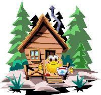 Cabin House Forest Resting Coffee animation animations animated gif gifs smiley smilie smileys smilies photo gnuireskzj3.gif