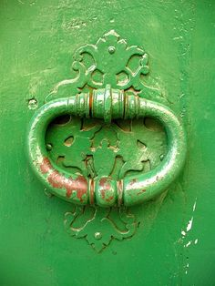 Provencal Green DoorKnocker  8x10 print by inournature on Etsy, $25.00