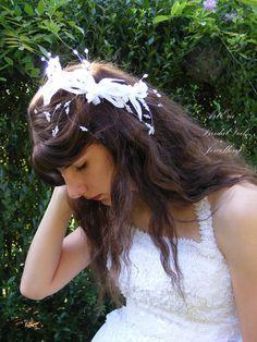 Retro Bridal hair ornament hairpiece wedding by ArtEraBridalVeil