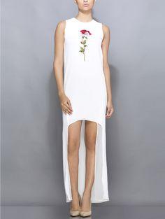 White high-low dress  #womensfashion #india #fashiontrends #whitedress #dress…