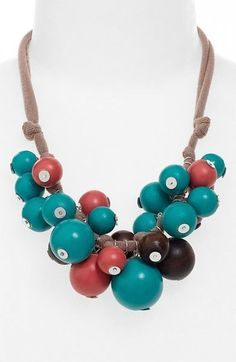 Stephan & Co.'s bauble necklace will surely pop poolside this summer. ($16)