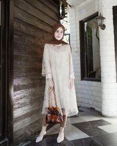 My lovely kondangan outfit from , swipe left for details 😍✨ Kebaya Muslim, Kebaya Modern Hijab, Kebaya Hijab, Model Kebaya Brokat Modern, Kebaya Lace, Kebaya Dress, Outfits Casual, Casual Hijab Outfit, Ootd Hijab