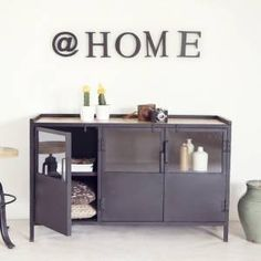 #Dressoir #industrial with wooden top 399,00 shop this item onine www.gigameubel.nl