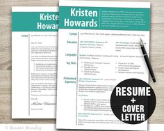 Get your dream job with this resume template and cover letter - easy editable files with professional design.    Make the best first impression