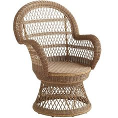 Santa Barbara Swivel Chair – Light Brown $180 Our all-weather swivel chair has been woven by hand of synthetic rattan over a durable, rust-resistant frame. So it's rugged and easy to clean. But also: Incredibly versatile, with a vintage shape, open-weave fan back and curved arms. Coordinates perfectly with bright sunshine and fresh breezes.