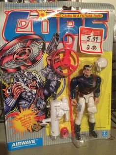 Airwave from the C.O.P.S. line of action figures from Hasbro. These are part of my personal collection of toys.