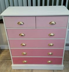 Pink chest of drawers by The Vintage Rose