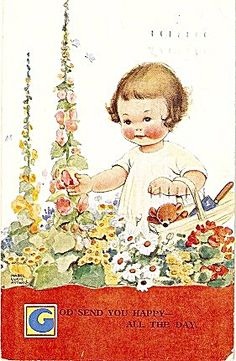 Mabel Lucie Attwell 'God Send You Happy...' Postcard, 1935