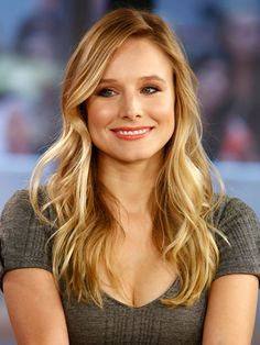 """Long hair: Kristen Bell - Add soft, tousled waves to long hair with a 1"""" curling iron. Set in spirals, but before spraying, run your hands through your hair to break up curls into loose, effortless waves. - Redbook"""