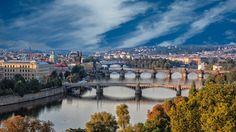 Pragues bridges in the morning by Valerii Tkachenko
