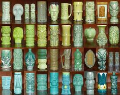 Another awesome collection of Tiki mugs!