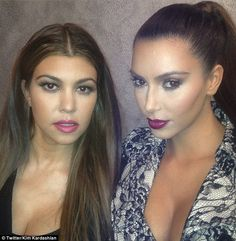 All made up: Kourtney and Kim were preparing for a photoshoot to promote their clothing line