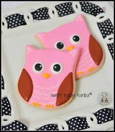 more owl cookies - cute!