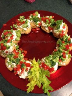 Festive ( & Easy) Holiday Hors d'oeuvres - The Chirping Moms Festive ( & Easy) Holiday Hors d'oeuvres. Use Veggie Dippin' Chips to add flavor. Christmas Party Food, Xmas Food, Christmas Cooking, Christmas Goodies, Christmas Treats, Holiday Treats, Holiday Recipes, Party Recipes, Christmas Cocktails