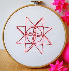 Moravian star in a hoop.