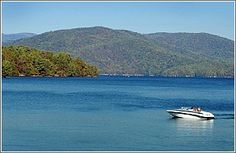 Devils Fork State Park provides the only public boat access to Lake Jocassee - South Carolina