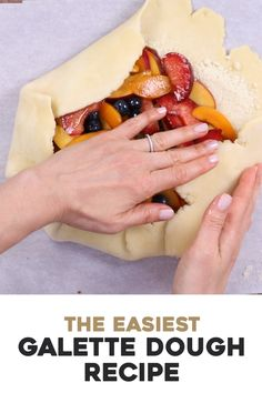 Galette Dough Recipe (From Scratch) A delicious galette starts with a buttery galette dough. This is my go-to galette dough. Pastry Dough Recipe, Tart Dough, Pastry Recipes, Tart Recipes, Sweet Recipes, Crust Recipe, Galette Pastry Recipe, Homemade Cake Recipes, Biscuits