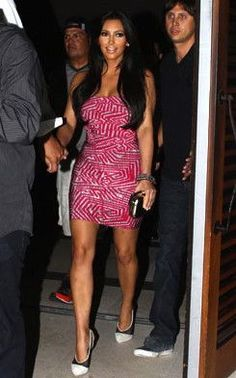 Who made Kim Kardashian's mesh white pumps and pink strapless dress that she wore in Miami on May Dress – Herve Leger Shoes – Fendi Dresses For Teens, Tight Dresses, Sexy Dresses, Cute Dresses, Party Dresses, New Dress Pattern, Fendi Dress, Strapless Dress, Bodycon Dress