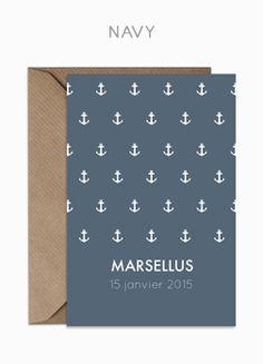 #faire-part #naissance #ancre #marin #garçon www.say-cheese.fr