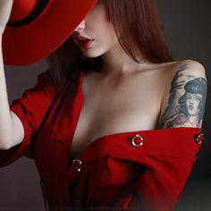 Lady in Red. Photographer Anton Montbrillant