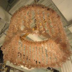 Lilly Chandelier - Ro Sham Beaux - pink quartz lighting