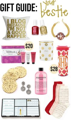 I Blog pillow // Essie red polish, gold polish // monogrammed braceletPhilosophy hand cream trio...