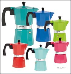 Percolate In Style With Pantone Universe Coffee Pots. | http://www.ifitshipitshere.com/pantone-percolators-new-colorful-coffee-pots/