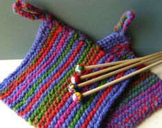 Chunky Potholder Kit w/Needles - Peace Fleece Fleece Projects, Fingerless Gloves, Arm Warmers, Pot Holders, Knit Crochet, Projects To Try, Arts And Crafts, Knitting, How To Make