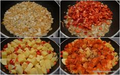 Mancare de cartofi cu carne de porc reteta de tocanita cu ceapa, usturoi si sos de rosii   Savori Urbane Grains, Rice, Pork, Seeds, Laughter, Jim Rice, Korn