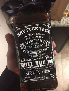 For my fiancé to ask his groomsmen to be in our wedding