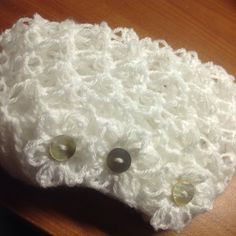 Custom white snood with flowers - snood rustic by Mywaycrochet is available in many colors