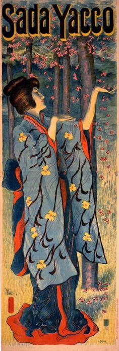 Alfredo Müller (1869-1939) - Sada Yacco or Sadayakko, 川上 貞奴 Kawakami Sadayakko (1871-1946) - France - 1899-1900