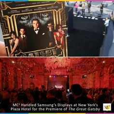 """During the premier of The Great Gatsby, we created a """"product experience lounge"""" for the Samsung Galaxy Note 8.0. Learn more about our display at the Lincoln Center. #eventmarketing #exhibit #booth"""