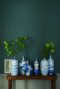 Farrow & Ball Inchyra Blue love this color front guest room paint… Farrow Ball, Farrow And Ball Paint, Farrow And Ball Living Room, Farrow And Ball Kitchen, Inchyra Blue Farrow, Farrow And Ball Inchyra Blue, Room Colors, Wall Colors, Yurts