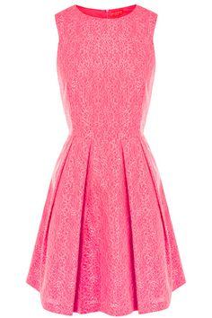 Lacey pink dress