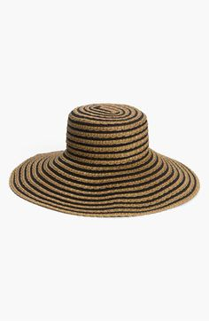 From Water World: Dressing for the Pool, Beach, or Natural Spring  Eric Javits GG Dame II packable sun hat in black mix, $125